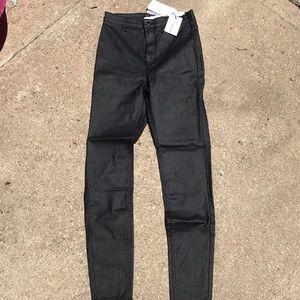 Stradivarius coated jeans